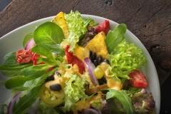 """Salat Fotografie: Salat """"Mexico"""" vor Ort fotografiert für eine Imbisskette"""