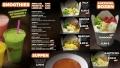 Restaurant Fotograf: Menübord gestaltet für Imbisskette mit unseren Foodfotos
