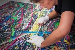 """Als eine der wenigen Fotolabore beherrscht das Fotolabor Grieger die Kunst des """"Splicens"""" - das fast unsichtbare Zusammenfügen von großformatigen Digitaldrucken zu """"monumentalen"""" Fotokunstwerken"""