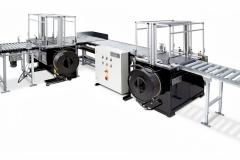 Fotografie Maschinenbau Verpackungsmaschinen Verpackungsstrasse freigestellt