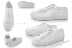 Schuhfotografie für preiswerten Schuh-Online-Shop: Sneakers in Weiß