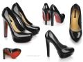 Schuhfotografie für preiswerten Schuh-Online-Shop: Lackpumps in Schwarz