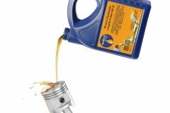 Wunsch Öle 5l Kanister Mineralöl Bildmontage Öl schütten auf Motorkolben