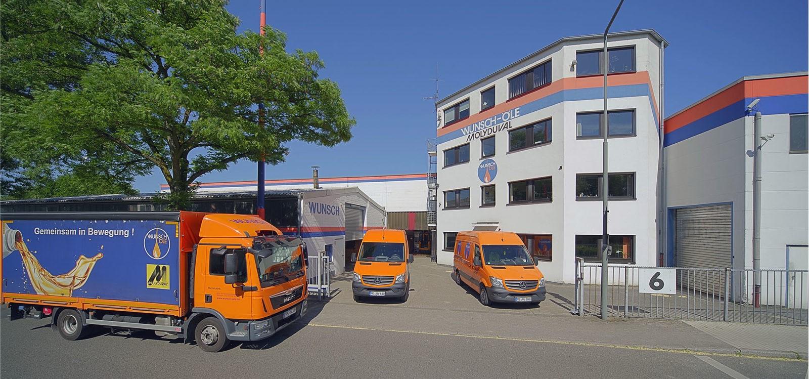 Ausgangsbild für die Retusche: Firmensitz der Wunsch Öle GmbH in Ratingen
